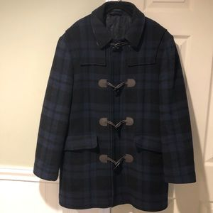 Lauren Ralph Lauren Tartan Wool Toggle Duffle Coat
